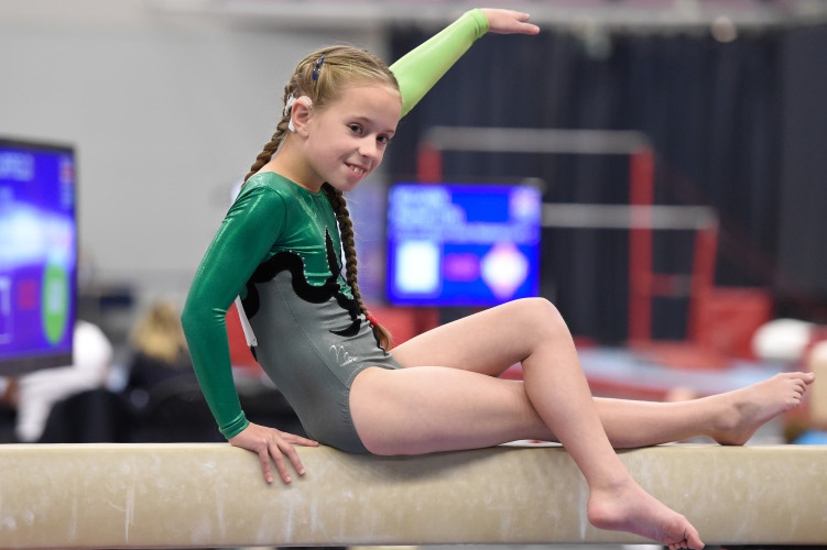 Eve Scourfield on beam