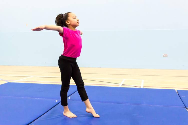 Gymnastics in tiers in England