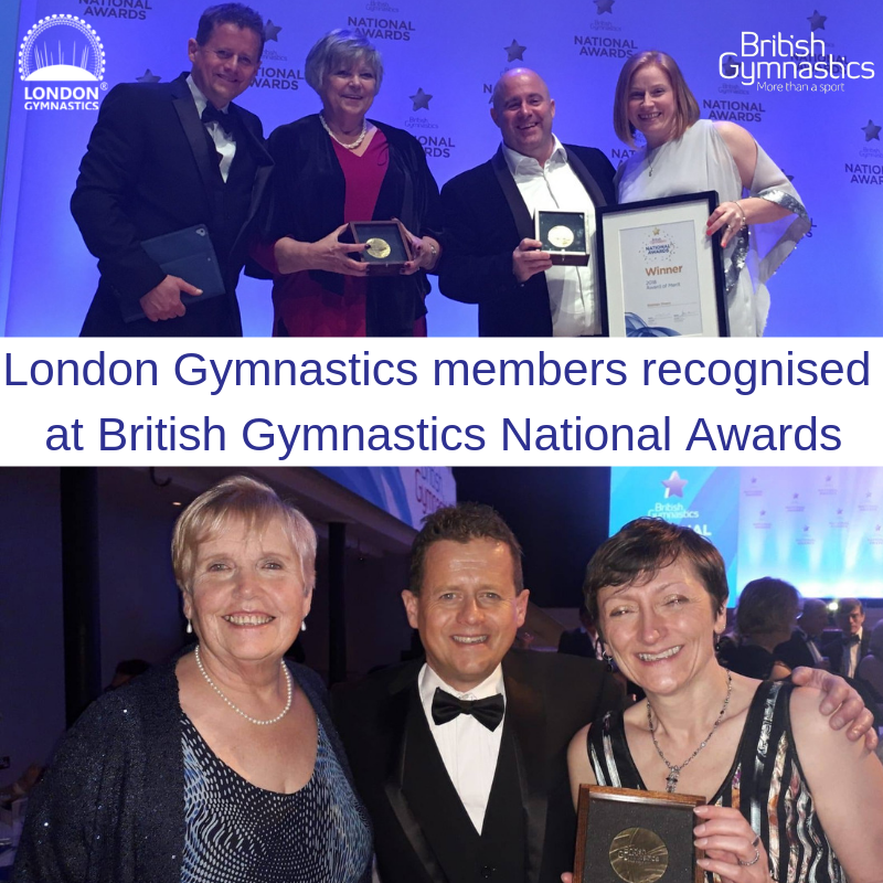 National Awards for members of London Gymnastics