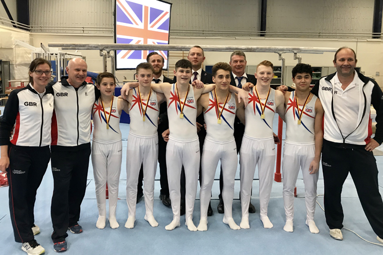Gold for under 18 men at 4-way international