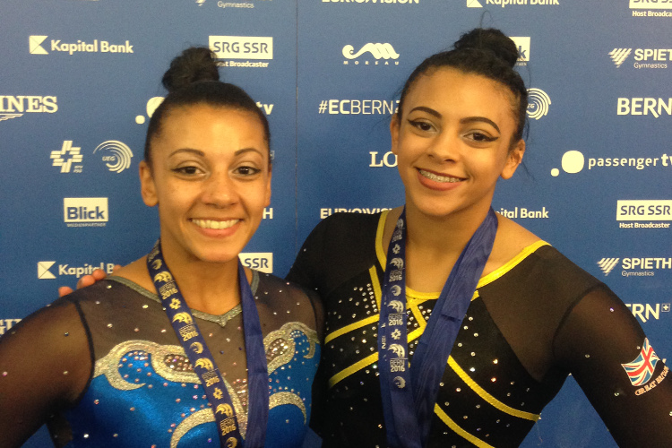 Bars gold for Becky and double silver for Ellie at European Championships