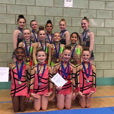 Smiles all round at Rhythmic Duets, Trios and Group Championships