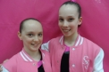 Pink ladies Amy and Jade ready and raring for junior British