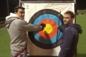 Swapping sports - GB men take on archery