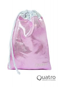 Quatro Baby Pink and Silver Handguard Bag