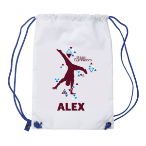 Personalised Drawstring Bag - Handstand (Maroon)