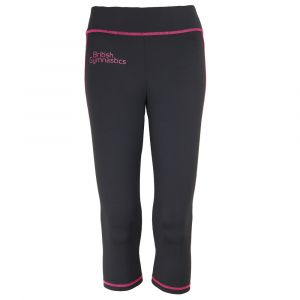 Black Capri Pants with Pink Trim - Women's
