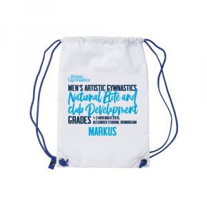 Mens Elite & Club Grades Personalised Drawstring Bag