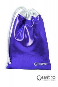 Quatro Purple and silver Handguard bag