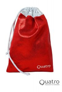 Quatro Red and silver handguard bag