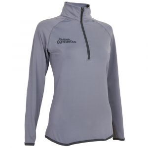 Charcoal & Black Half Zip - Women's