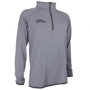Charcoal & Black Half Zip - Men's