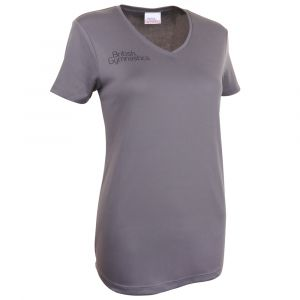 Charcoal V-Neck T-Shirt - Women's
