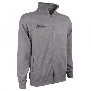 Full Zip Charcoal Sweat Top