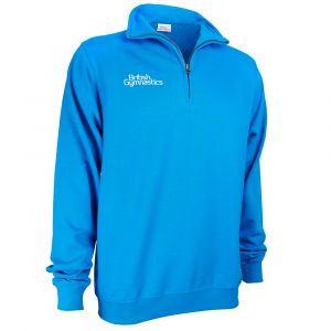 Sapphire Zip Neck Sweat Top