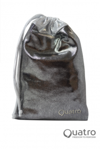Quatro Steel and silver handguard bag